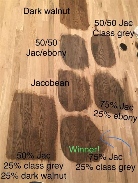 chose  white oak hardwood stain color today  winner
