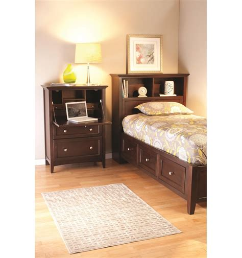 bookshelf bed mckenzie bookcase storage beds bare wood fine wood