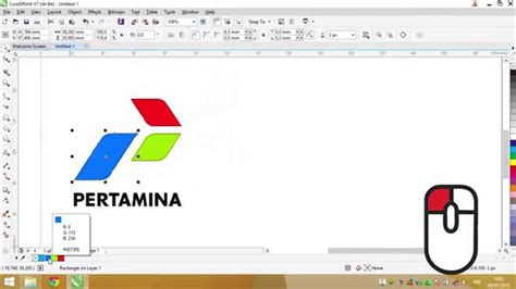 tutorial logo pertamina corel draw meniru logo pertamina youtube