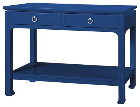 Navy Blue Console Table by Bungalow 5 Harlow Console In Lacquered Navy Blue