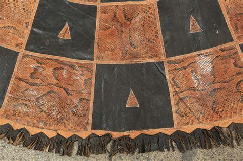 snake skin rug leather and snake skin tribal rug at 1stdibs