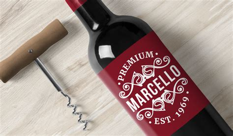 Personalised Name Wall Stickers wine bottle labels award winning quality stickeryou