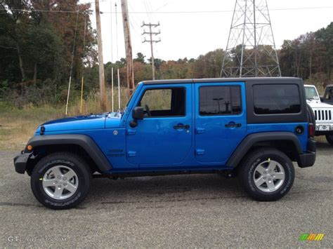 Hydro Blue Jeep 2015 Hydro Blue Pearl Jeep Wrangler Unlimited Sport 4x4