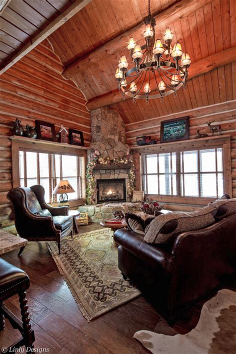 log cabin living rooms log cabin living room traditional living room