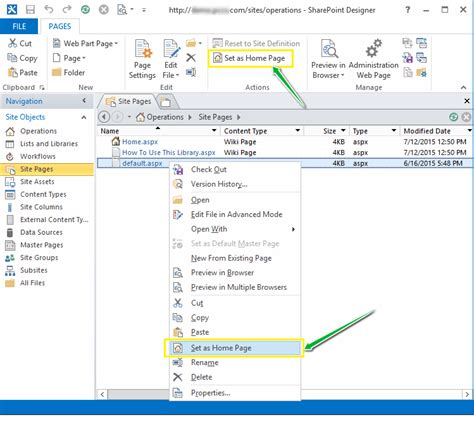 reset sharepoint online to default set default home page in sharepoint 2013 sharepoint diary