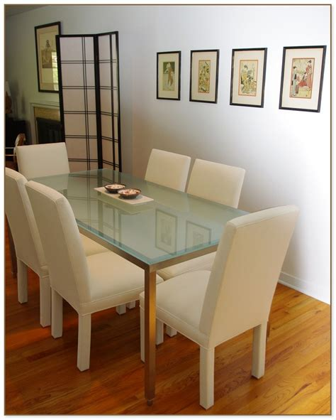 etched glass dining frosted glass dining table