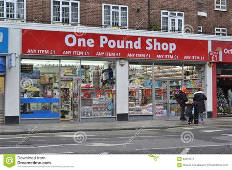 one pound shop discount store editorial photo image