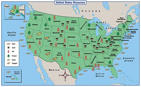 Map Of The United States Natural Resources | social studies em baker grade 3