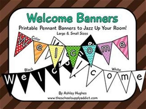 printable welcome banner for classroom 17 best images about classroom decor on pinterest