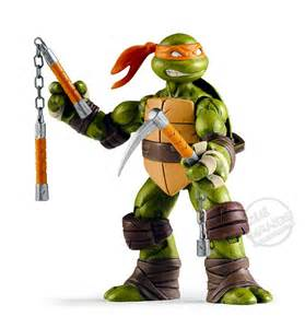 Basic action figures each turtle is wearing his signature bandanna and