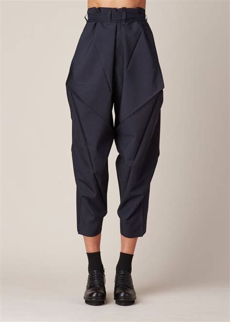 Origami Fashion Designers - issey miyake origami culottes navy i d buy that