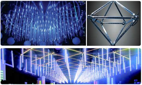 display led lighting systems 3d led pendant display pixel matrix vertical 360