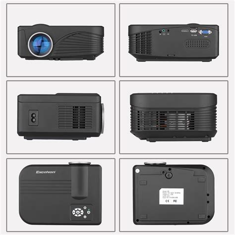 Home Theater Multimedia Visilux mini hd 1080p led projector home theater 360 176 flip multimedia usb hdmi av vga sd ebay