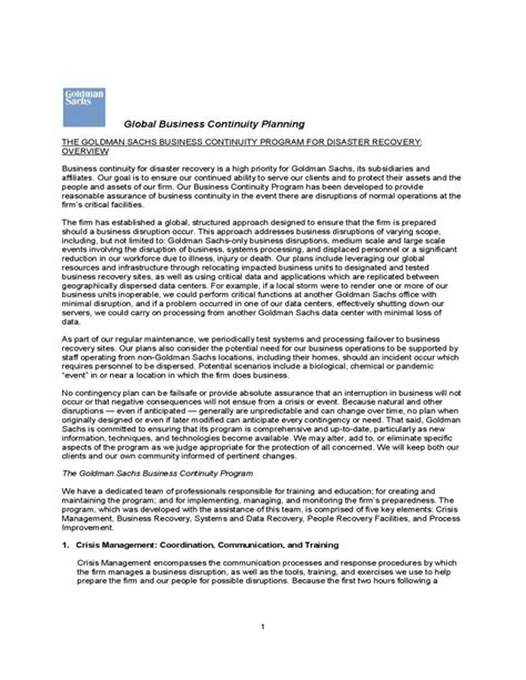 global business continuity planning free download