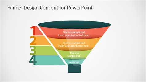 Free Funnel Slide Designs For Powerpoint Slidemodel Free Powerpoint Funnel Template