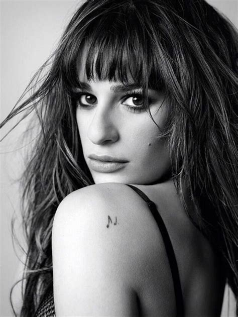 lea michele tattoos lea michele musical note shoulder best