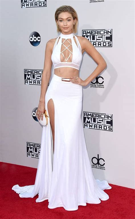 e news red carpet gigi hadid from 2015 american music awards red carpet