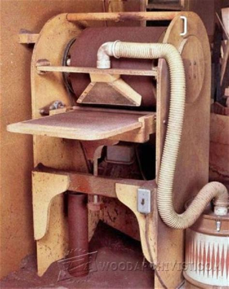 thickness sanding  lathe woodarchivist