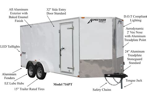 patriot enclosed trailers homesteader trailers