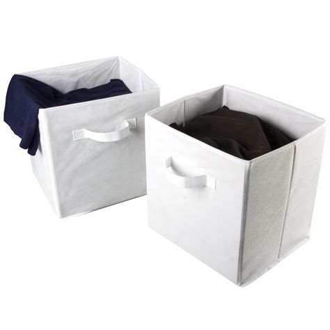 organization bins 2 large foldable fabric storage bins cubes home