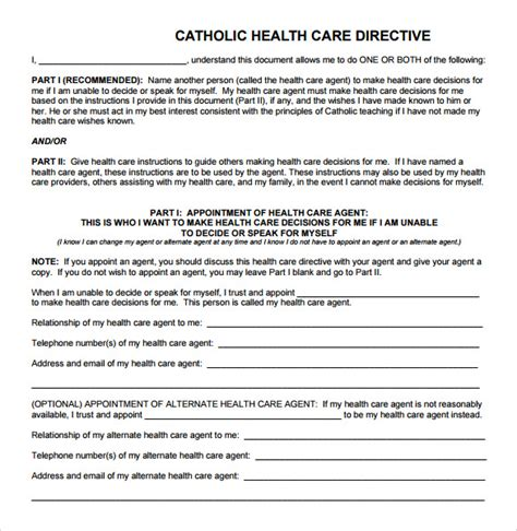 advance care directive template advance directive images