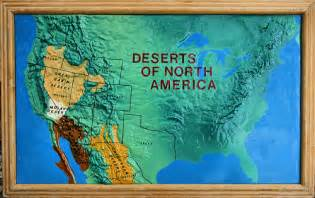 deserts of america this was a map that was on