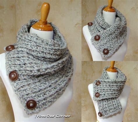 dallas scarf 3 button scarf
