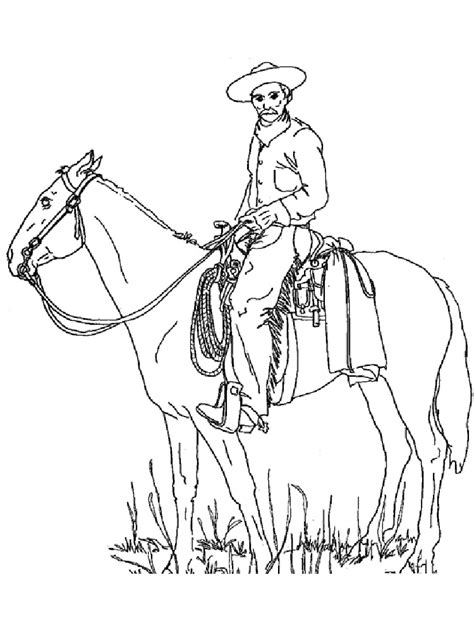 cowboy coloring pages free printable cowboy coloring pages