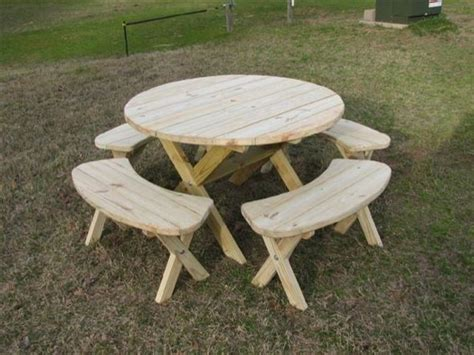 circular picnic benches round picnic table for the home pinterest