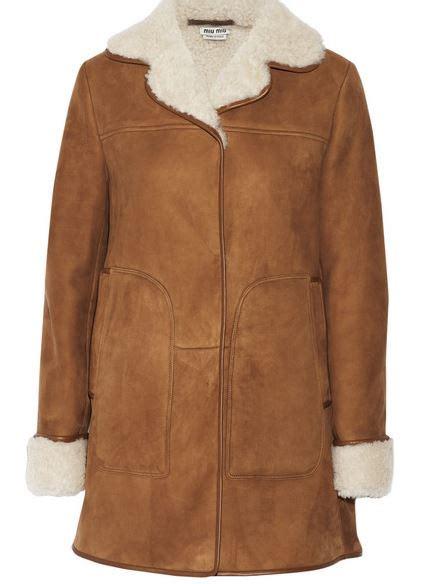 Magenta Miu Miu Coat For Fall by Miu Miu Shearling Suede Coat For Fall 2015 Shopping And Info