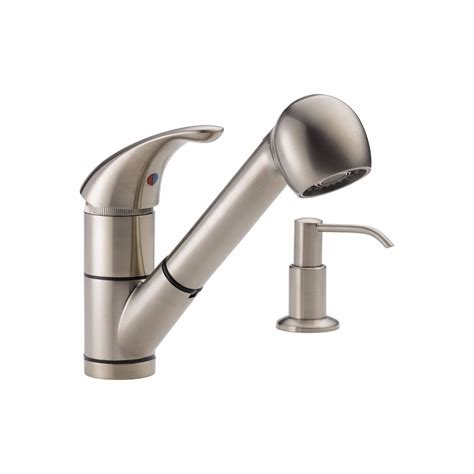 peerless pull kitchen faucet peerless pull out kitchen faucet brushed nickel