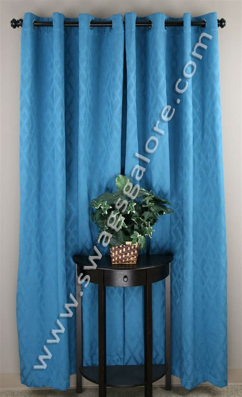Teal Swag Curtains Adrian Grommet Top Panels Teal Stylemaster View All