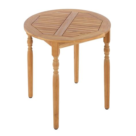 Teak Bistro Table Hton Bay Town Teak Patio Bistro Table Ktot 3231 Hdp The Home Depot