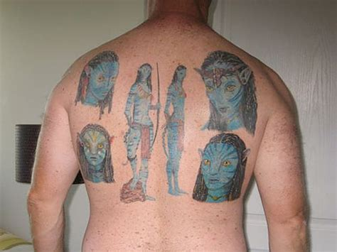 tattoo cover freckles man covers entire back in avatar tattoos vulture