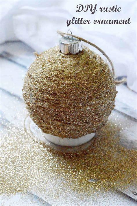 diy glitter twine ornaments diy rustic glitter ornament mod podge rocks