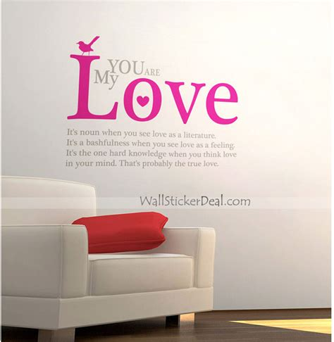 wall sayings stickers you are my quotes wall stickers wallstickerdeal