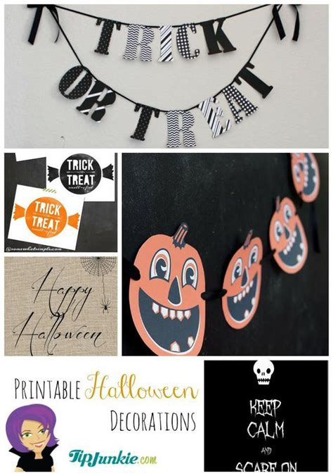 printable free halloween decorations 33 fun and free halloween printables tip junkie