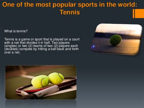 tennis one of the most popular sport in the world