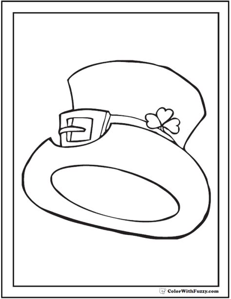 Fedora Hat Coloring Page | fedora hat coloring pages
