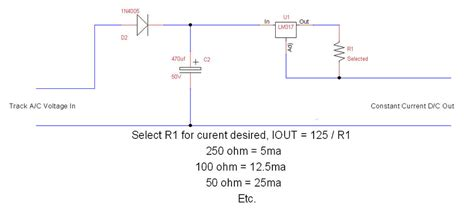 constant current diode led constant intensity lighting module for caboose lighting o railroading on line forum