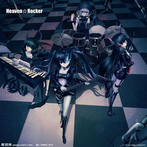 imagenes de anime rock 黑化初音设计图 动漫人物 动漫动画 设计图库 昵图网nipic com