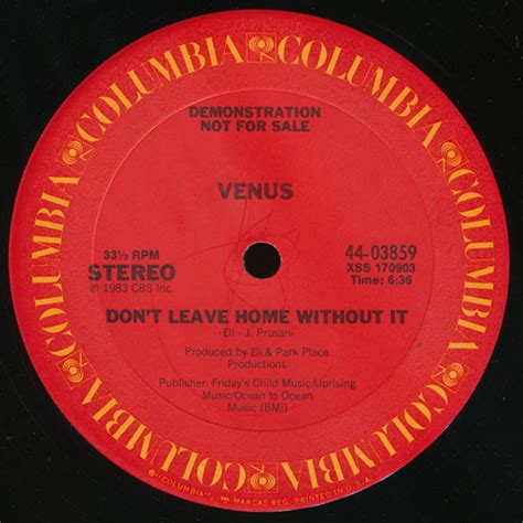 venus 17 don t leave home without it at discogs