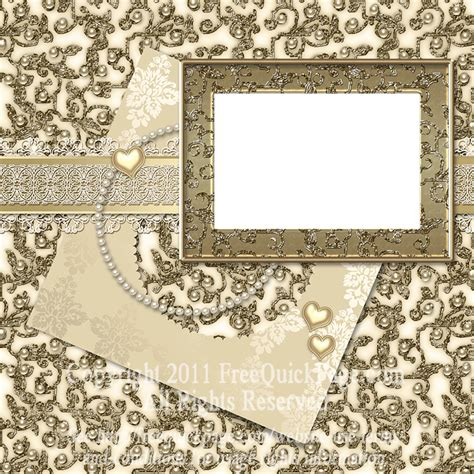 wedding scrapbook templates gold wedding scrapbooking layout by wonderlandscraps on