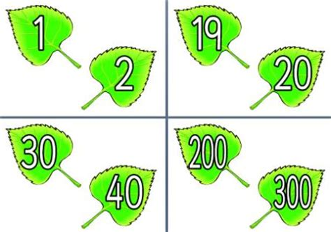 printable number leaves free spring teaching resources downloadable butterfly