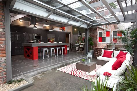 indoor outdoor kitchen designs outdoor kitchen photos hgtv