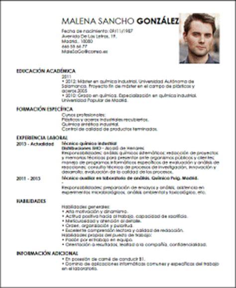 Modelo Curriculum Vitae Quimico Modelo Cv T 233 Cnico Qu 237 Mico Livecareer