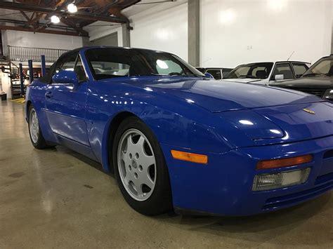 porsche 944 blue 1991 porsche 944 s2 cabrio maritime blue