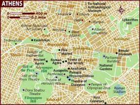 athens map map of athens greece in