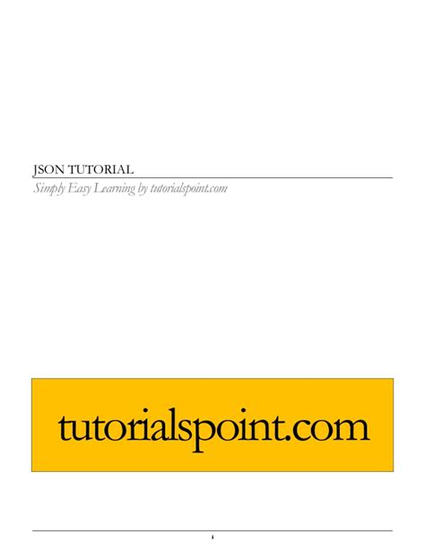 tutorialspoint json json tutorial