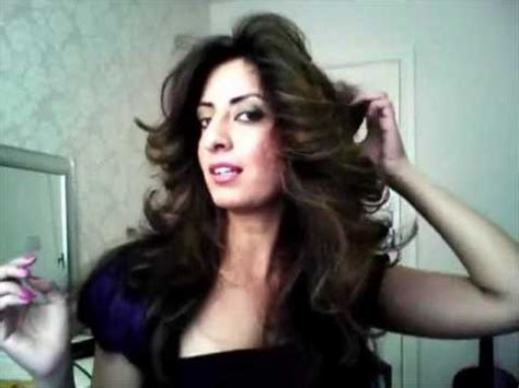 70s feathered hair hot rollers how to get big hair and flicks with noreen khan youtube